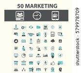 marketing icons  | Shutterstock .eps vector #579978709