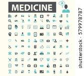 medicine icons  | Shutterstock .eps vector #579978787