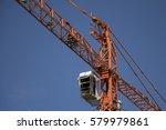 construction crane tower crane  | Shutterstock . vector #579979861