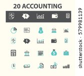 accounting icons  | Shutterstock .eps vector #579981139
