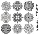 set of mandalas for coloring... | Shutterstock . vector #579982729