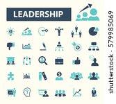 leadership icons  | Shutterstock .eps vector #579985069