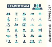 leader team icons  | Shutterstock .eps vector #579985087