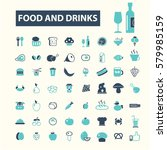 food and drinks icons | Shutterstock .eps vector #579985159
