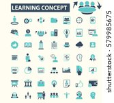 learning concept icons  | Shutterstock .eps vector #579985675