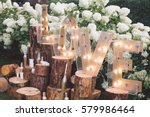 decorated meadow for wedding... | Shutterstock . vector #579986464
