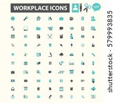 workplace icons  | Shutterstock .eps vector #579993835