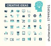 creative ideas icons | Shutterstock .eps vector #579993931