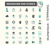 researcher and science icons  | Shutterstock .eps vector #579994441