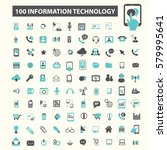 information technology icons | Shutterstock .eps vector #579995641