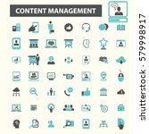 content management icons  | Shutterstock .eps vector #579998917