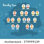 family tree. genealogy ... | Shutterstock .eps vector #579999139