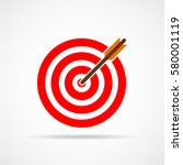 target with arrow. target with... | Shutterstock .eps vector #580001119