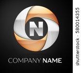 letter n vector logo symbol in... | Shutterstock .eps vector #580014355