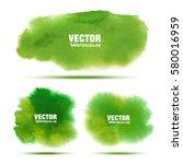 set of bright green   yellow... | Shutterstock .eps vector #580016959