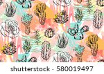 hand drawn vector abstract... | Shutterstock .eps vector #580019497
