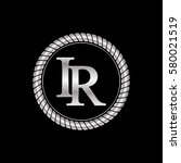 initial i and r logo silver... | Shutterstock .eps vector #580021519