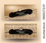 elegant luxury event banners... | Shutterstock .eps vector #580027219