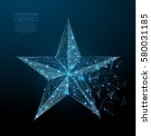 abstract image of a star in the ... | Shutterstock .eps vector #580031185