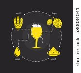 beer purity law icon with malt  ... | Shutterstock .eps vector #580034041