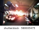 security camera in stalled for... | Shutterstock . vector #580035475