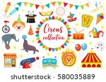 circus collection  flat ... | Shutterstock .eps vector #580035889