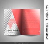 bi fold business brochure... | Shutterstock .eps vector #580037791
