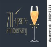 70 years anniversary vector... | Shutterstock .eps vector #580045381