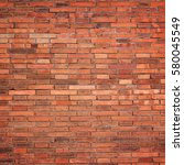 red brick wall texture for... | Shutterstock . vector #580045549
