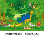 jungle in cartoon