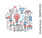 new business ideas  strategies...   Shutterstock .eps vector #580052431