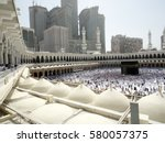 mecca  saudi arabia  may 13 ... | Shutterstock . vector #580057375