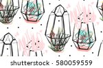 hand drawn vector abstract... | Shutterstock .eps vector #580059559