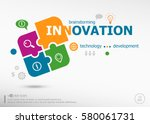 innovation business concept... | Shutterstock .eps vector #580061731
