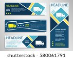 truck icon on horizontal and... | Shutterstock .eps vector #580061791
