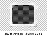 square frame template on sticky ... | Shutterstock .eps vector #580061851