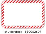 border with line red and white... | Shutterstock .eps vector #580062607