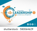 leadership word cloud and... | Shutterstock .eps vector #580064629
