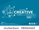 creative related words and... | Shutterstock .eps vector #580064665