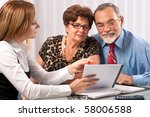 senior couple meeting with... | Shutterstock . vector #58006588