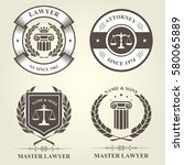 attorney and lawyer bureau... | Shutterstock .eps vector #580065889