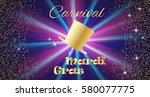 mardi gras celebration concept... | Shutterstock .eps vector #580077775