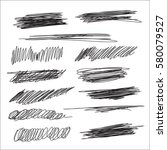 scribble brush strokes set ... | Shutterstock .eps vector #580079527