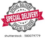 special delivery. stamp.... | Shutterstock .eps vector #580079779