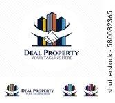 property deal logo design... | Shutterstock .eps vector #580082365
