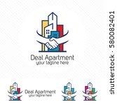 property deal logo design... | Shutterstock .eps vector #580082401