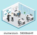 flat 3d vector isometric... | Shutterstock .eps vector #580086649