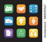 business flat design icons set. ...