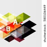 transparent triangle tiles... | Shutterstock .eps vector #580106449