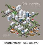 transportation 3d city   Shutterstock . vector #580108597
